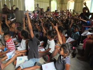 Excited kids in Suhi